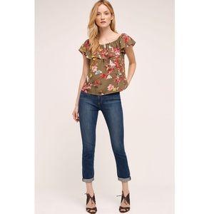 {anthro} maeve vallita off-the-shoulder blouse
